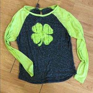 Tops - St Patrick's day baseball tee xs